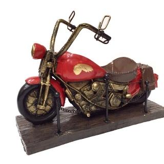 Motocicleta cu suport sticla