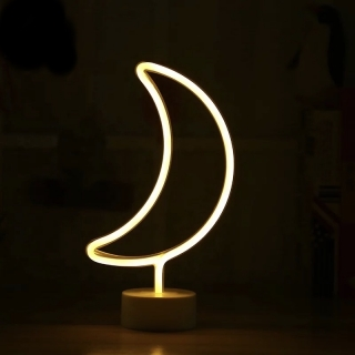 Lampa Luna cu usb si neon