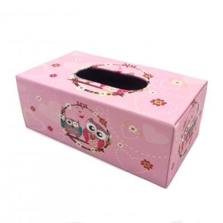 cutie pentru servetele cu bufnite