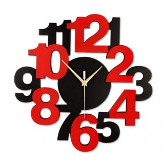 Ceas perete din lemn Cifre