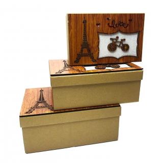 Set 3 cutii cadou Love Paris