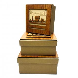 Set 3 cutii cadou Love