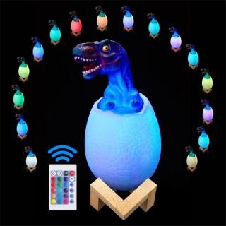 Lampa dinozaur 3d cu telecomanda