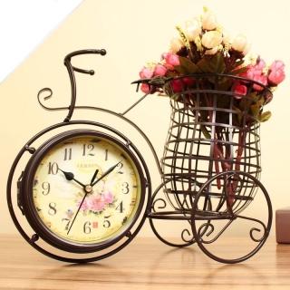 Bicicleta cu ceas si suport pentru flori