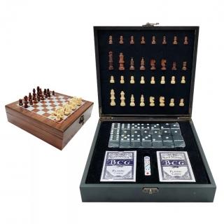Set cadou Sah, Poker, Domino, Carti de Joc