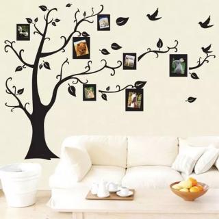 Sticker decorativ copac cu rame foto