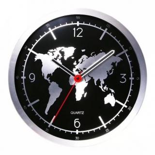 Ceas de perete cu harta lumii