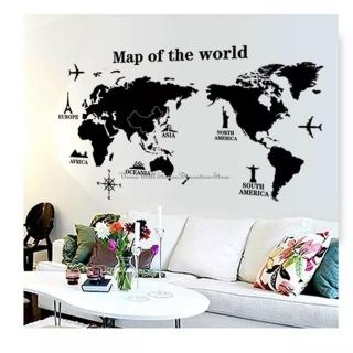 Sticker decorativ harta lumii