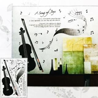 Sticker decorativ vioara