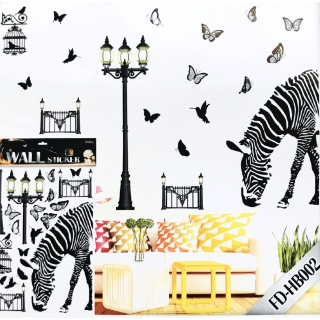 Sticker decorativ 8d Zebra