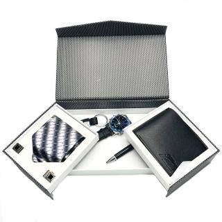 Set cadou barbati cu cravata si portofel