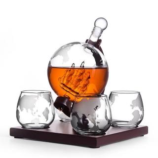 Set cadou decantor glob cu pahare