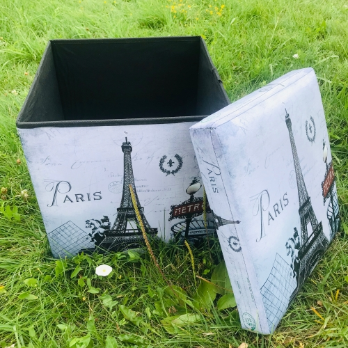 Taburet pliabil cu spatiu de depozitare Paris