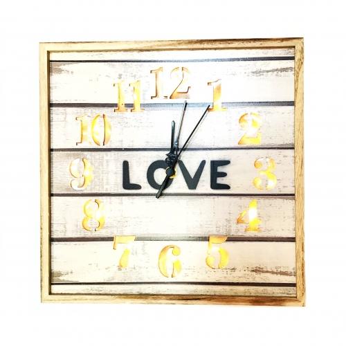 Ceas perete cu lumina Love