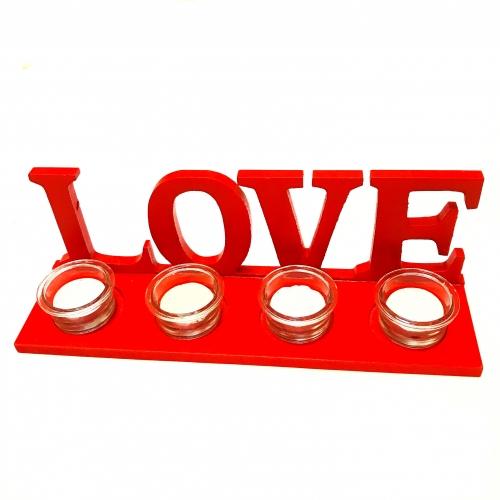 Suport 3D pentru lumanari,Love