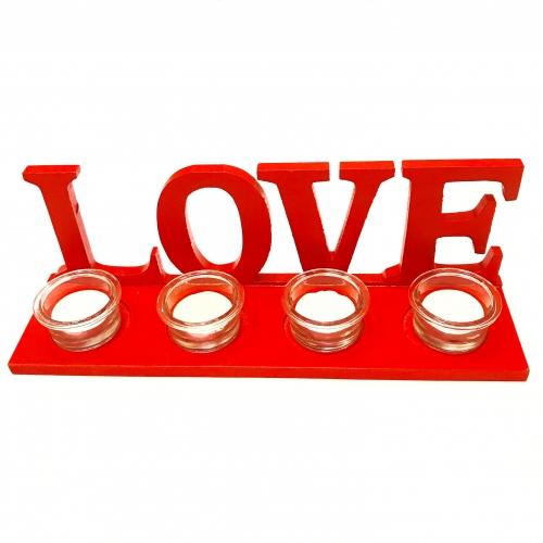 Suport cu lumanari Love