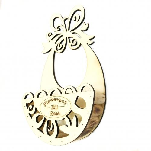 Cos pentru flori din lemn