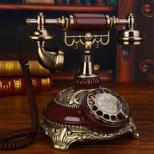 Telefon antic cu rotita