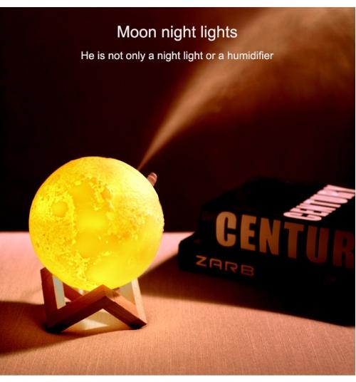 Lampa Luna 3D cu umidificator